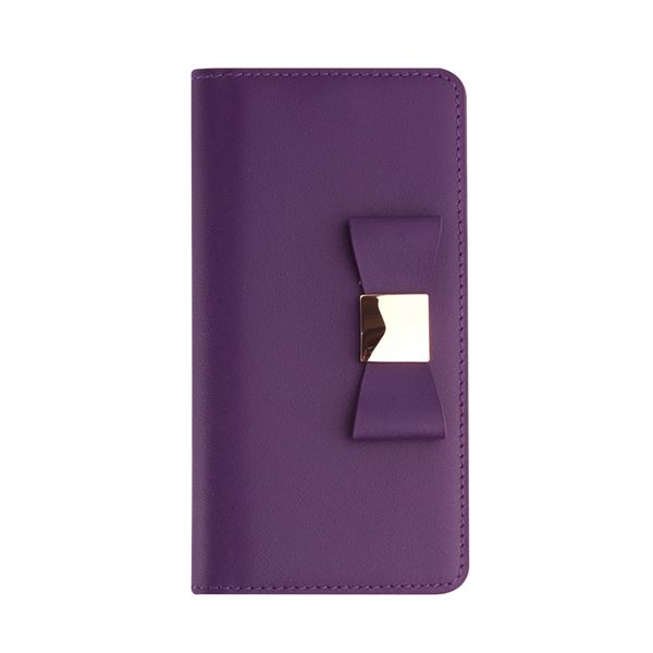 Layblock iPhone7 Plus Ribbon Classic Diary パープル_送料無料
