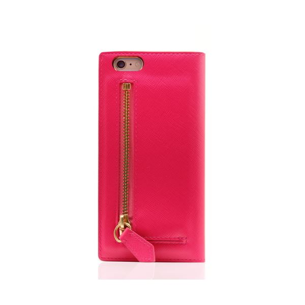 SLG Design iPhone6/6S Saffiano Zipper Case ホットピンク_送料無料