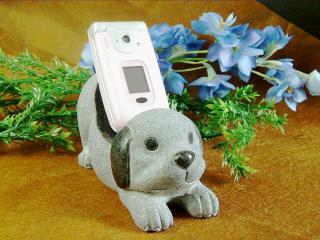 【携帯スタンド】犬の携帯置き★ りょう石 100%御影石