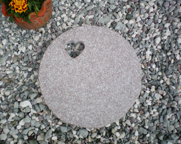 Heart hole drilling stones, steps tone pink Flagstone stepping stones garden stepping stone granite pron stone 05P06jul13