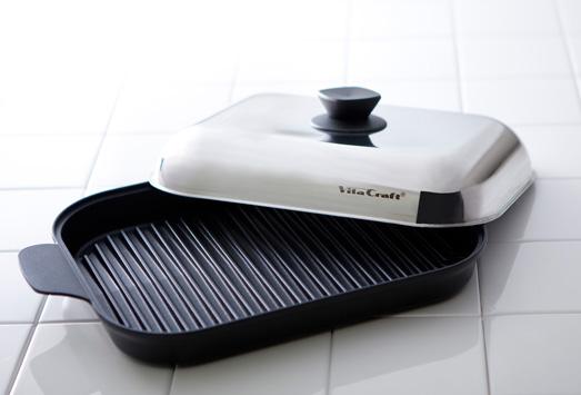 ビタクラフト グリルパン シリコングリップ付 ガス・IH対応 電磁調理器 Vita Craft 3001 JAN: 4973673330018
