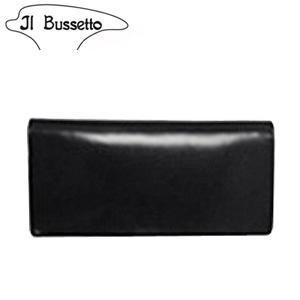 イル・ブセット IL Bussetto 長財布 財布 ブラック イタリアンレザー/本革 【送料無料】【SS50】 [T]
