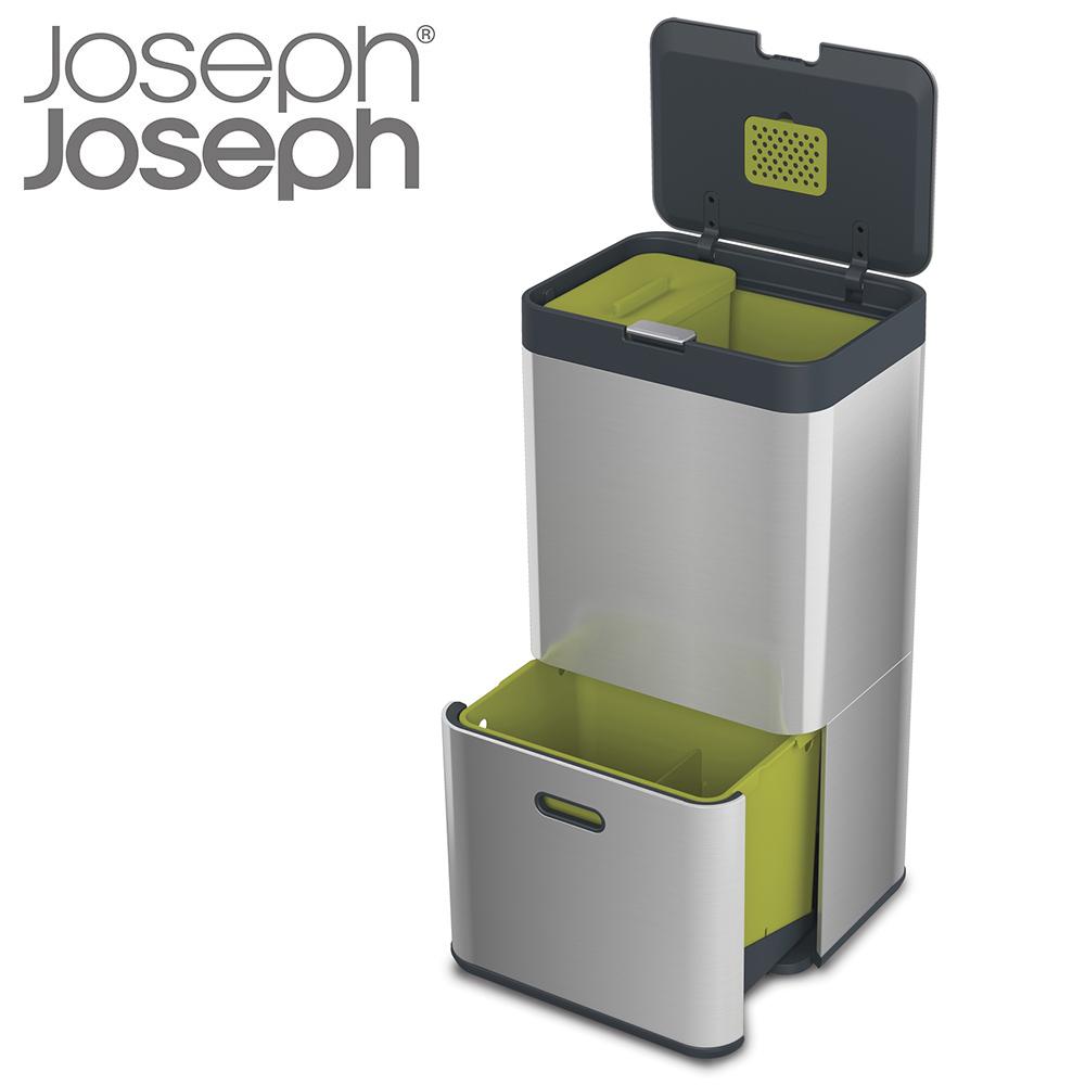 ジョセフジョセフ (JosephJoseph) 多機能ゴミ箱 トーテム 60L (ステンレス) 30022【DEAL】 [T]