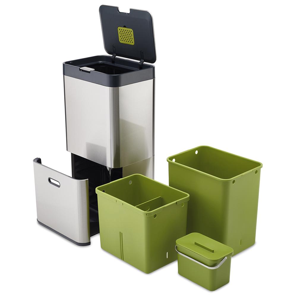 ジョセフジョセフ 【お取り寄せ商品】 60L 30022 /(Joseph Joseph/) 多機能ゴミ箱 トーテム ステンレス