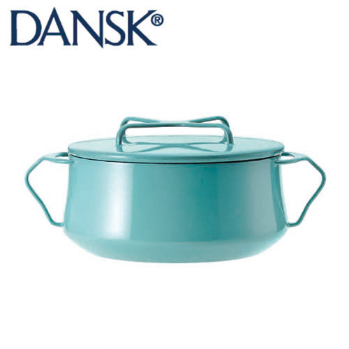 DANSK ダンスク コベンスタイル ホーロー鍋 両手鍋18cm 2QT ティール 833297 【送料無料】