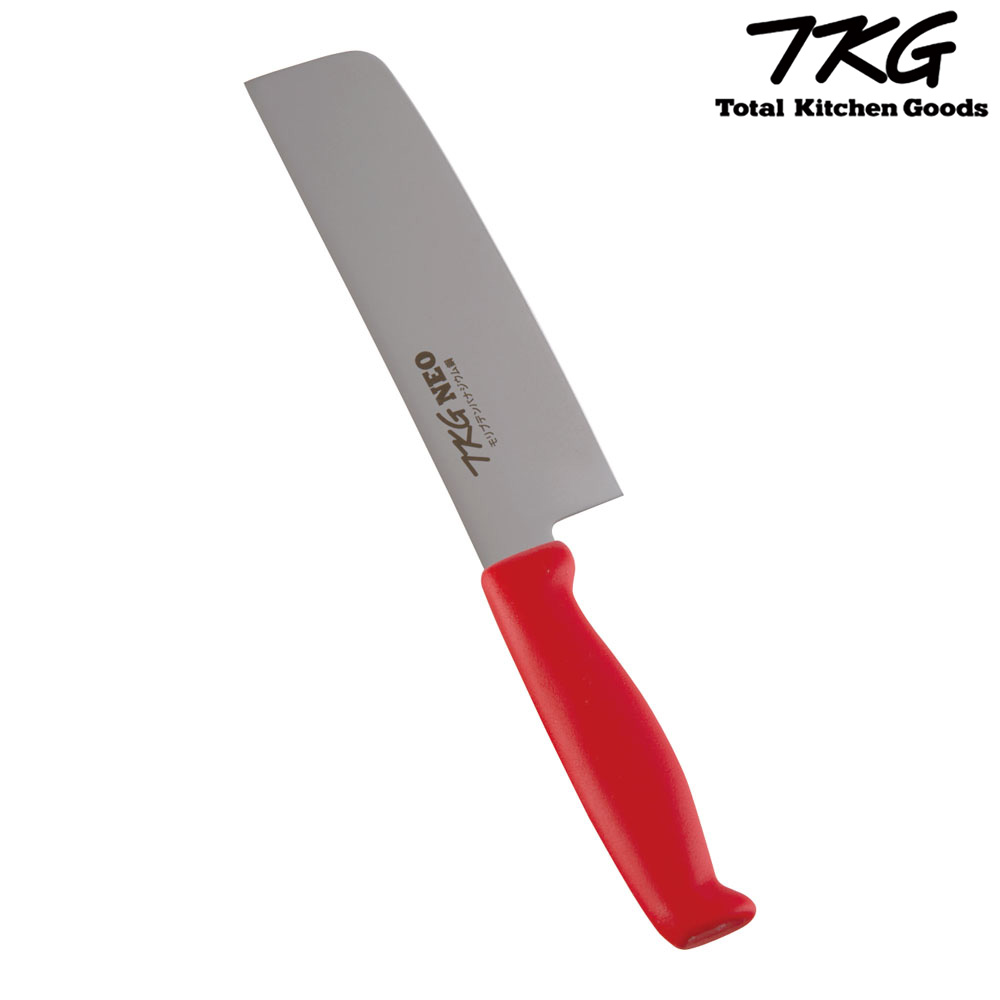 TKG-NEO(ネオ)カラー 薄刃 16.5cm レッド ATK8303 7-0315-0503 4905001118098 遠藤商事