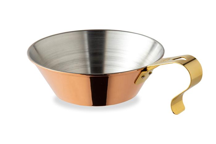 へら絞りで形成する風合い豊かな銅製カップ コッパーシェラカップ 400 90026 結婚祝い 日本製 銅製カップ アウトドア ファイヤーサイド キャンプ 全品送料無料 調理器具 食器 コップ おたま