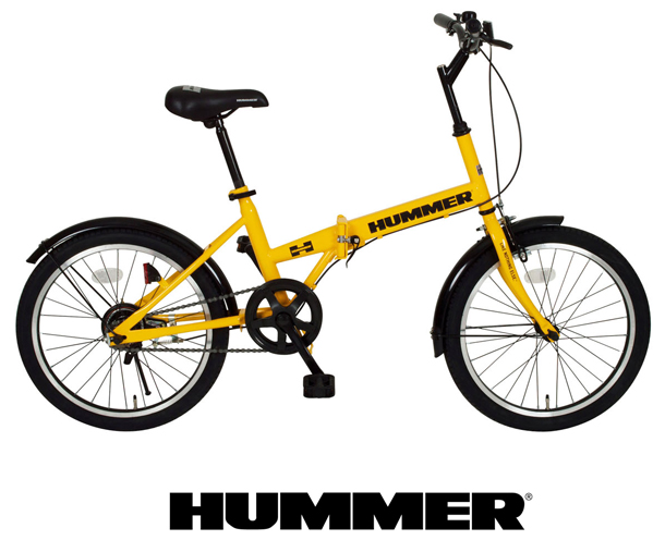 HUMMER ハマー 折畳自転車 20インチ イエロー MG-HM20R FDB20R 持ち運び 自転車 サイクル シングルギア
