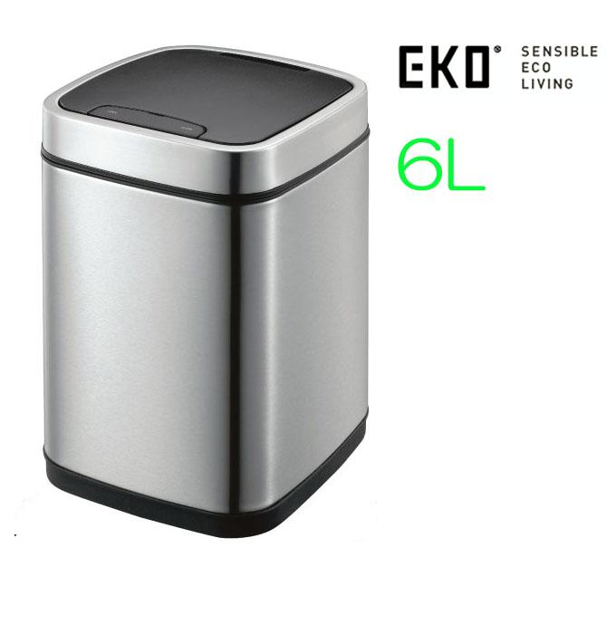 ゴミ箱 ダストボックス フタ付き EKO エコスマートセンサービン 6L EK9288 スリムで オシャレ キッチン 生ごみ オムツ 臭い センサーでふたが自動開閉