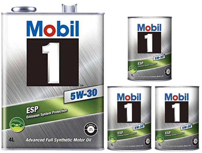 エンジンオイルにこだわるなら世界的に有名なモービル1 モービル1 mobil 最新号掲載アイテム 1 ESP 5W-30 激安通販ショッピング 5W30 7Lセット 4L+1L+1L+1L ベンツ フォルクスワーゲン ドイツ車 合成油 VW 欧州車