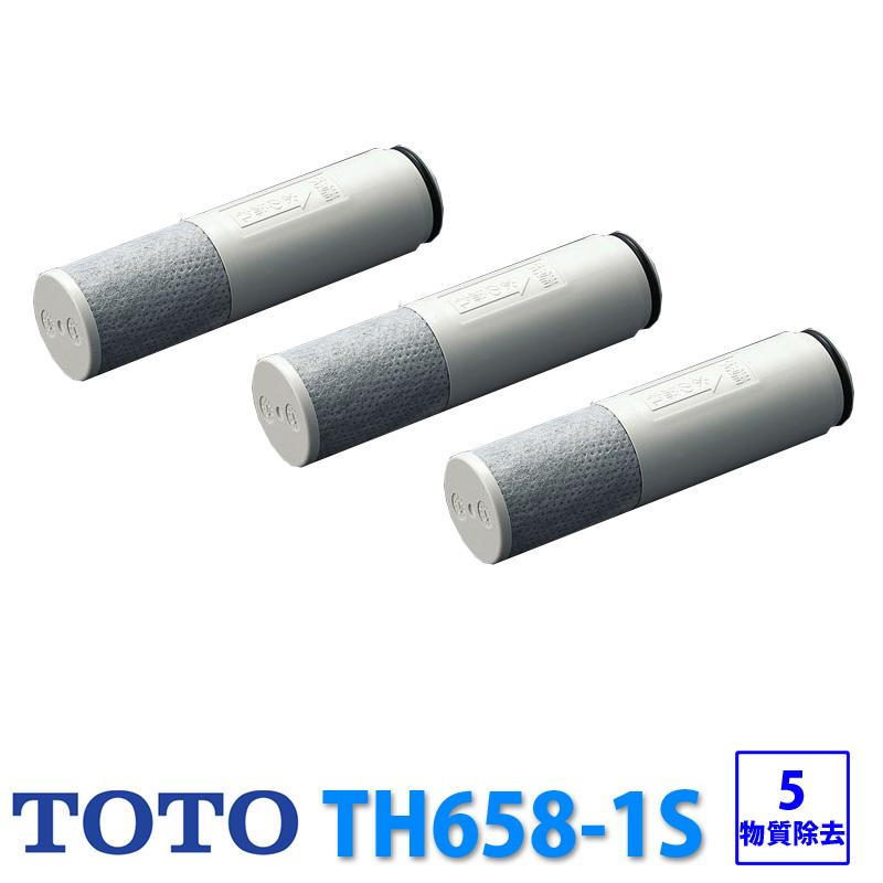 TOTO TH658-1S 3個入り TH6581S 浄水器 浄水器兼用混合栓用 標準タイプ キッチン 水 水道水