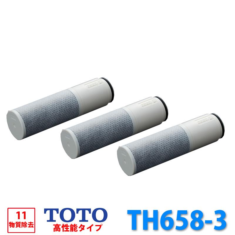 TOTO TH658-3 3個入り TH6583 高性能タイプ 浄水器 浄水器兼用混合栓用 キッチン 水 水道水 11物質除去