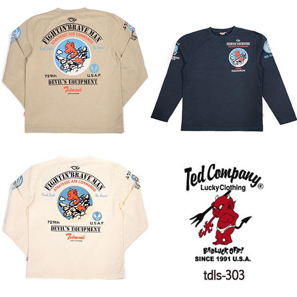 テッドマン TEDMAN TDLS-303ロングTシャツ 長袖Tシャツ バイカーズ