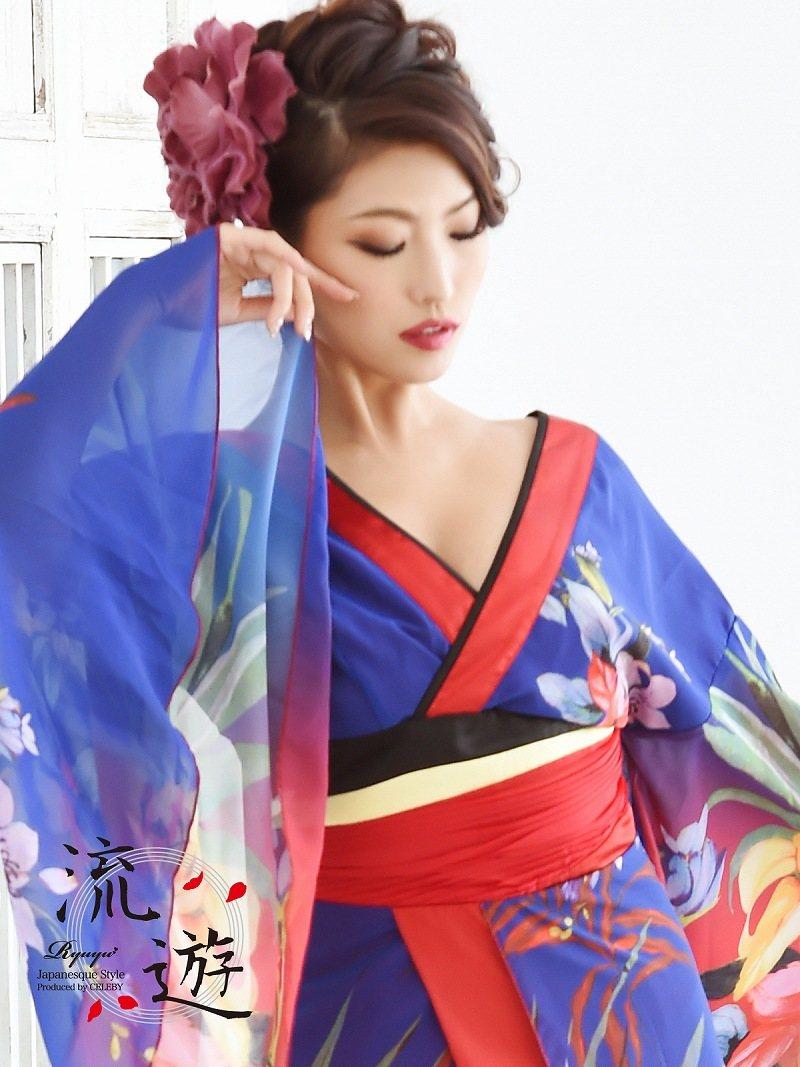 ed6a218985e6e 楽天市場 花魁 コスプレ 衣装 和柄ドレス コンパニオン 衣装 着物 ...