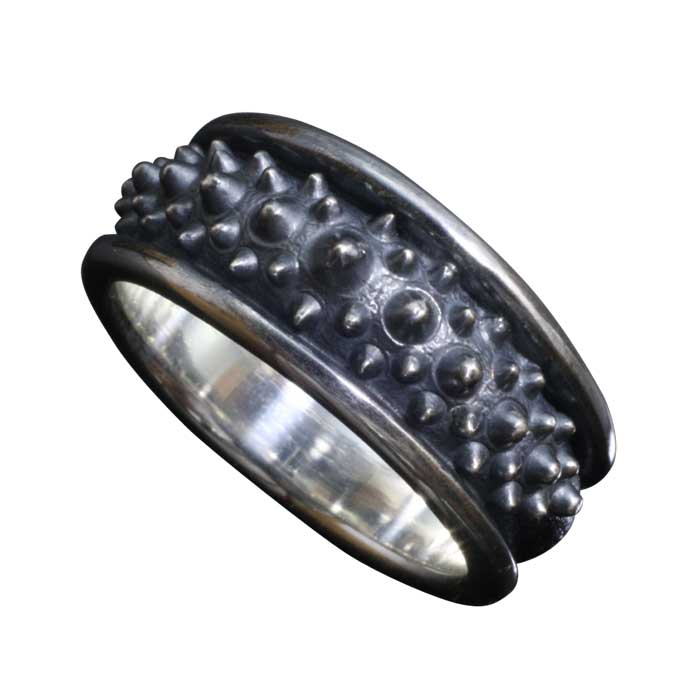 指輪 メンズ 送料無料 龍頭 霰 リング シルバー 和柄 和風 男性用 ギフト プレゼント 大きい 小さい サイズ 伝統技法 10~27号