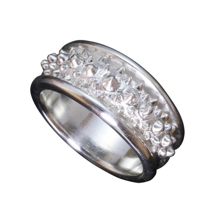 指輪 メンズ 送料無料 龍頭 霰リング シルバー 和柄 和風 男性用 ギフト プレゼント 大きい 小さい サイズ 伝統技法 10~27号
