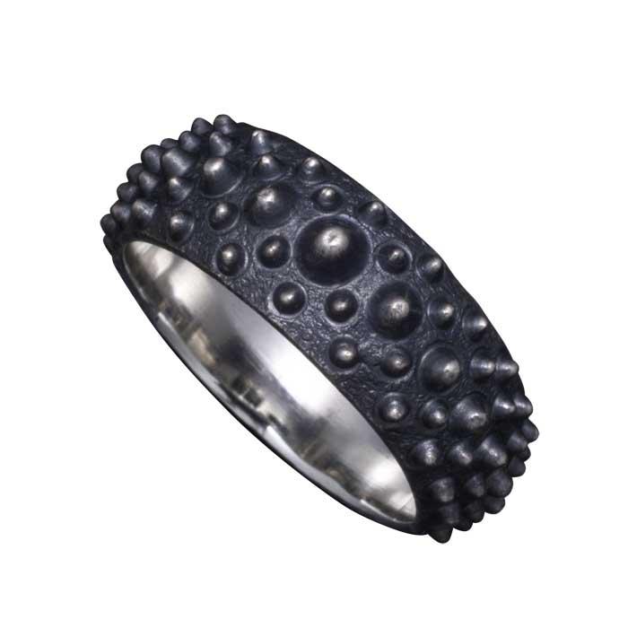 指輪 メンズ 送料無料 龍頭 霰 リング シルバー 和柄 和風 男性用 ギフト プレゼント 大きい 小さい サイズ 伝統技法 12~26号