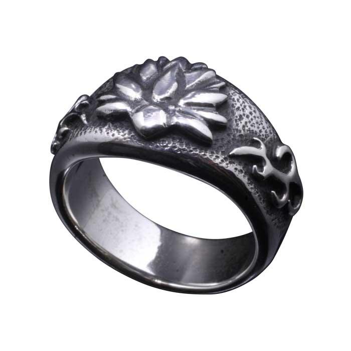 指輪 シルバーリング メンズ 龍頭 華 指輪 シルバー 蓮 和柄 和風 ブランド おしゃれ 4号 5号 6号 7号 8号 9号 10号 11号 12号 13号 14号 15号 16号 17号 18号 19号 20号