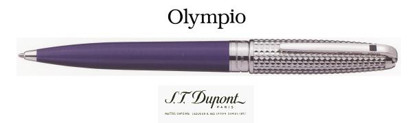【ボールペン デュポン 送料無料】オランピオダイヤモンド・ヘッド&ラッカーパープル