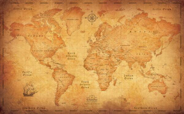 コロンバス世界地図ぬり絵 ザ 開催中 店 マップ オブコロンバス 2枚セットアンティークパーチメント プレゼント 御祝 お誕生日 記念品
