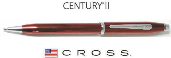 【ボールペン クロス】センチュリー22015年期間限定フィニッシュトランスルーセントレッドラッカー