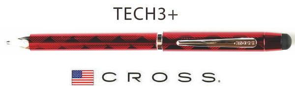 複合ペン クロス テックスリープラストランスルーセントレッドラッカー