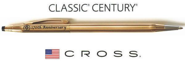 【ボールペン クロス】クラシックセンチュリー170周年ギフトセット14金張