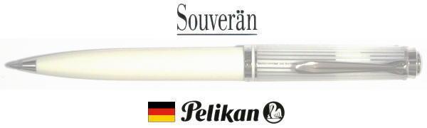 【ボールペン ペリカン 送料無料】「特別生産品」K605スーベレーン 605 ホワイトストライプ