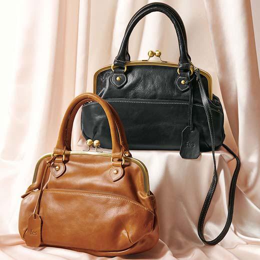 かばん <fes(フェス)>がま口2WAY本革バッグ ryuryu リュリュ レディース 春 春服 大人 かばん バッグ 鞄 40代 ファッション