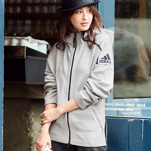 アディダス ショートコート S M L(adidas)Z.N.E36H フーディパーカ ryuryu/リュリュ ラナン Ranan 30代 40代 ファッション レディース スプリングコート