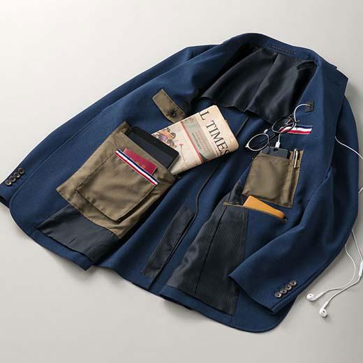 ジャケット 5L 4L 3L洗える!モバイル仕様テーラードジャケット(3L~5L) リュリュ ryuryu 40代 50代 60代 紳士 ファッション 大きいサイズ ジャケット メンズ 男性