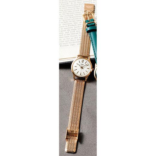 腕時計<ヘンリーロンドン>クラシカル腕時計(ゴールドメッシュ) ryuryu リュリュ ラナン Ranan 秋冬 秋服 30代 40代 ファッション レディース