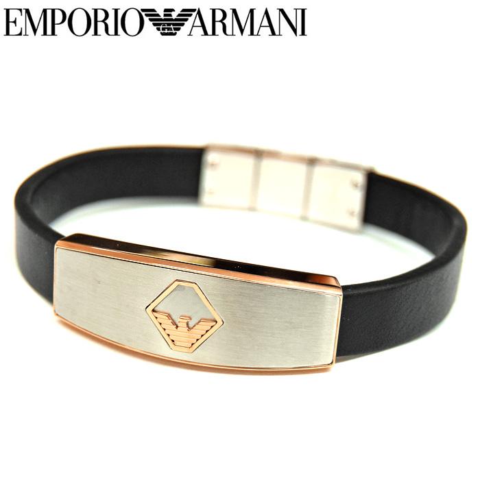 エンポリオアルマーニ EMPORIO ARMANI【19】EGS2637040 ブレスレット アクセサリーメンズ シルバー ゴールド ブラック(CPT) 父の日