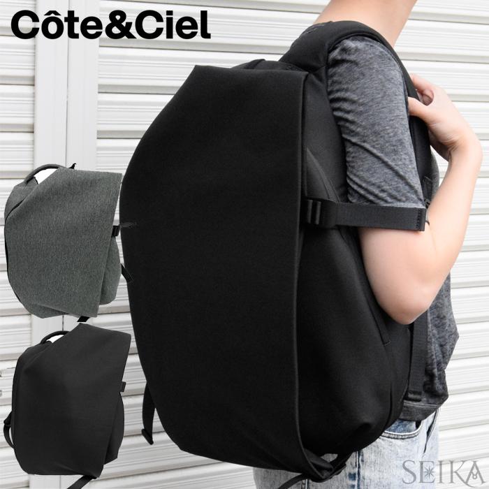 【スプリングクリアランス】【6】(特典付き!)Cote&Ciel コートエシエルISAR SMALL Ecoyarn【28470 BLACK】【28492 BLACK MELANGE】バックパック リュックサック通勤 通学 鞄 かばん