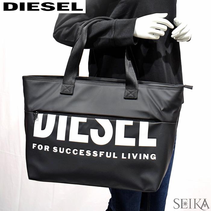 【247】ディーゼル DIESEL X06248 P1705 T8013 F-BOLD SHOPPER II ボールド ショッパー トートバッグ バッグ ブラック メンズ レディース ユニセックス アウトドア 鞄 かばん 通勤 通学