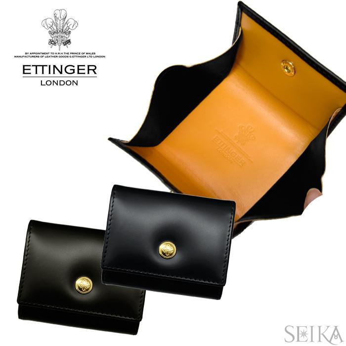 【11】ETTINGER エッティンガー小銭入れ コインケース 背面ポケット付 BH145JR【BLACK ブラック】【NAVY ネイビー】BRIDLECOIN PURSE ブライドルハイドコレクション 【G1】