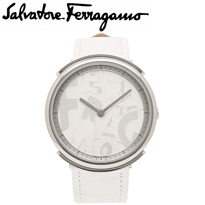 フェラガモ Ferragamo ロゴマニア時計 腕時計 レディース ホワイト レザー FFY010017(ty1)
