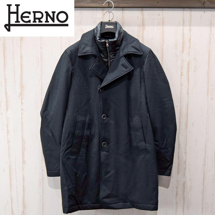 【特典付き】ヘルノ HERNO メンズ ピーコートCA0056U 33515S 9290(3)ネイビーブルゾン コート ジャンパー