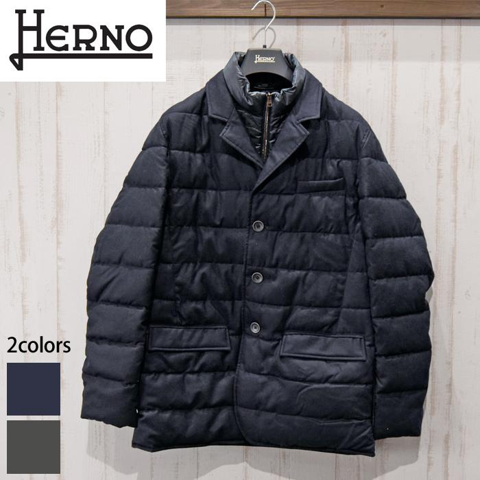 ヘルノ HERNO メンズ 中綿ブルゾンPC0044U 38300 9200(1)ネイビー 9400(4)グレージャケット コート ジャンパー