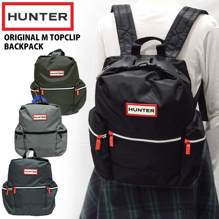 ハンター HUNTER UBB6018ACD BLK(13) DOV(14)NAVY(15) SRA(16) トップクリップ ミニバックパック リュックサック ブラック ネイビー グレー リュック カバン 鞄 バッグ通勤 通学 鞄 かばん
