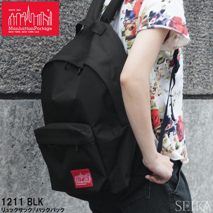 マンハッタンポーテージ Manhattan Portageリュックサック バックパック1211 BLK ブラックメンズ レディース通勤 通学 鞄 かばん