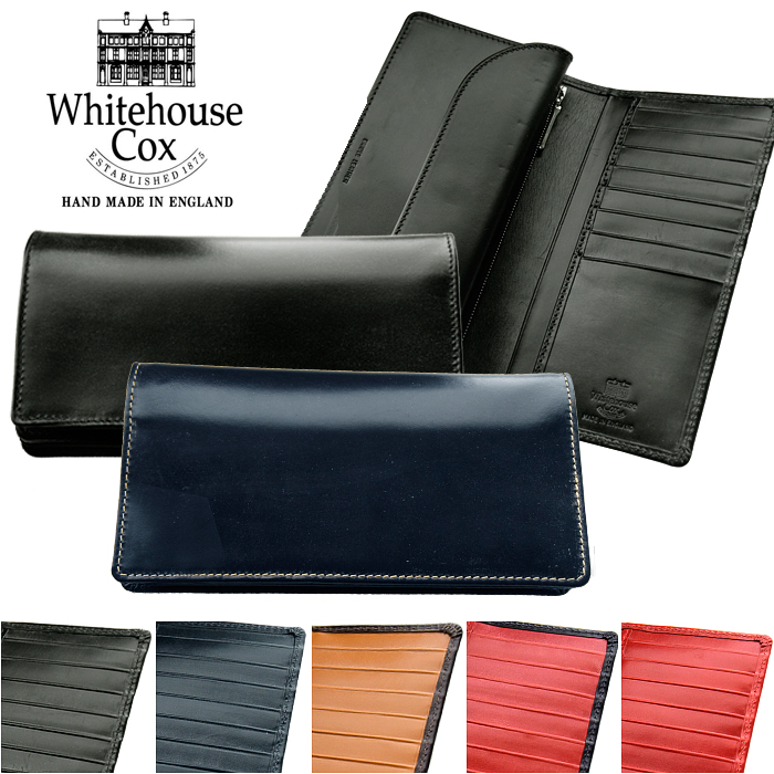 ホワイトハウスコックス Whitehouse Cox長財布 小銭入れ付 メンズ レディースS8819 全5色 BRIDLE ブライドルレザー LONG WALLET