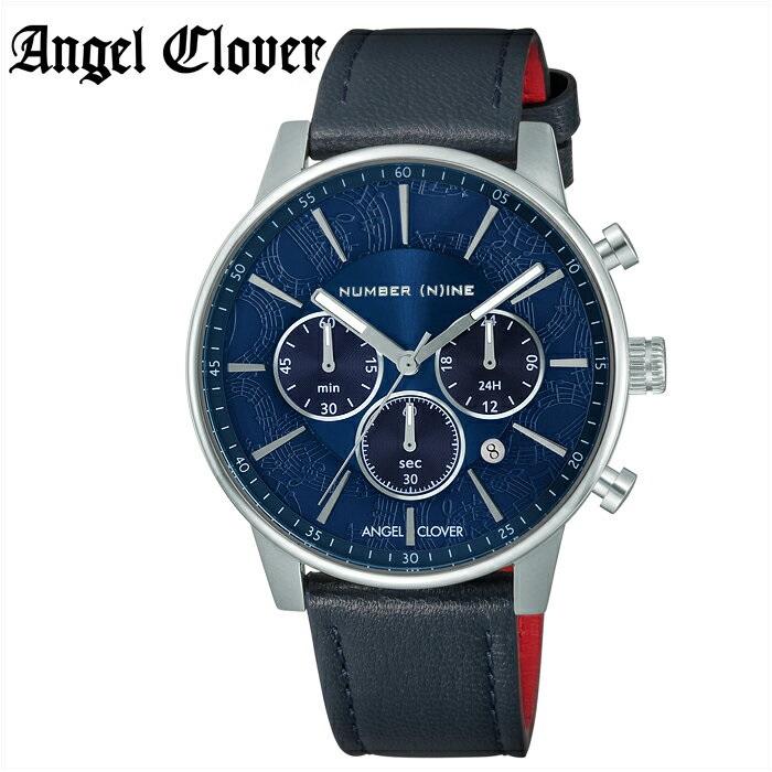 エンジェルクローバー Angel Cloverナンバーナイン NNC42SNV-NV 時計 腕時計 メンズブルー シルバー ネイビーレザー(ty1)【ID】