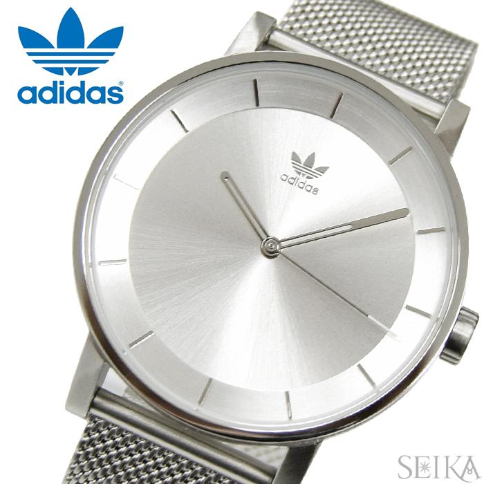 【当店ならお得クーポンあり!】アディダス adidas District_M1(3)Z04-1920(Z04-1920-00) Z041920時計 腕時計 メンズ レディース シルバー メッシュ