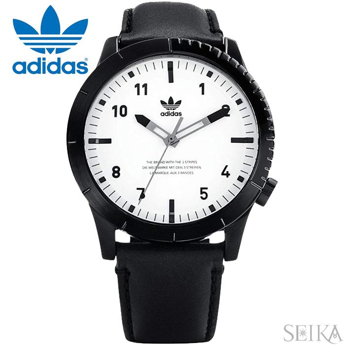 【レビューを書いて5年保証】アディダス adidas CYPHER_LX1 (47)Z06-005-00 Z06005-00 時計 腕時計 メンズ レディース ホワイト ブラック レザー ギフト