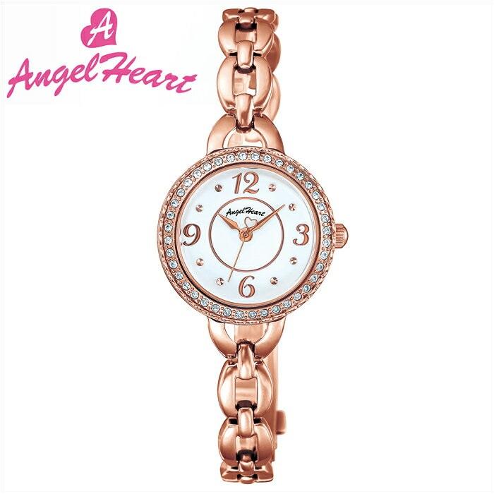 (ショップ袋付)エンジェルハート Angel Heartクリスタルハニー 時計 腕時計 レディースCH24PW ソーラー電池 ホワイト ピンクゴールド (ty1)【ID】