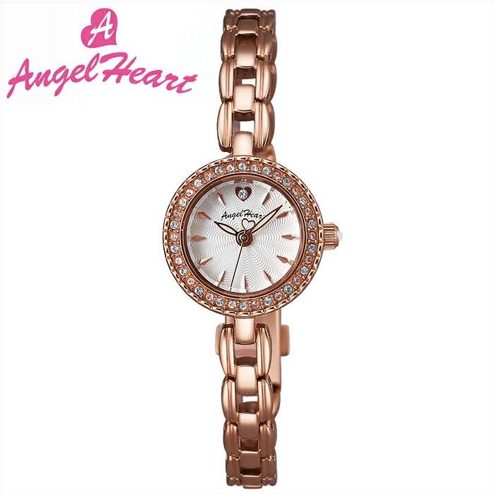 (ショップ袋付)エンジェルハート Angel Heartエターナルクリスタル 時計 腕時計 レディースET21PS シルバー ピンクゴールド (ty1)【ID】 ピンクゴールドの腕時計