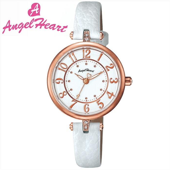 (ショップ袋付)エンジェルハート Angel Heartイノセントタイム 時計 腕時計 レディースIT29P-WH ソーラー電池 ホワイト レザー (ty1)