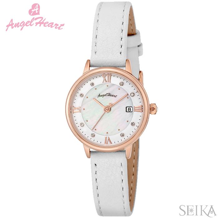 (ショップ袋付)エンジェルハート ソーラー Angel Heart LU26P-WHリュクス 時計 腕時計 レディース ホワイト レザー