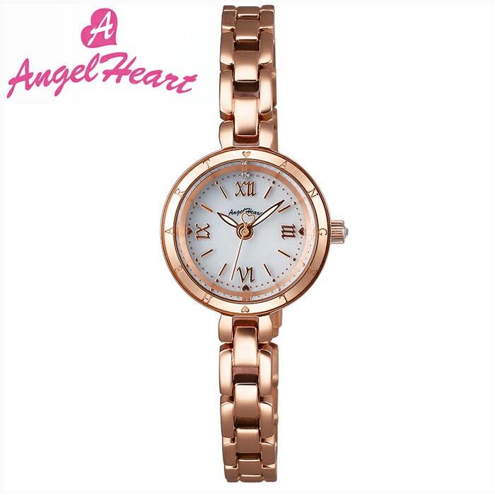 (ショップ袋付)エンジェルハート Angel Heartピュアエンジェル 時計 腕時計 レディースPA22PG ソーラー電池 ホワイト ピンクゴールド (ty1)【ID】